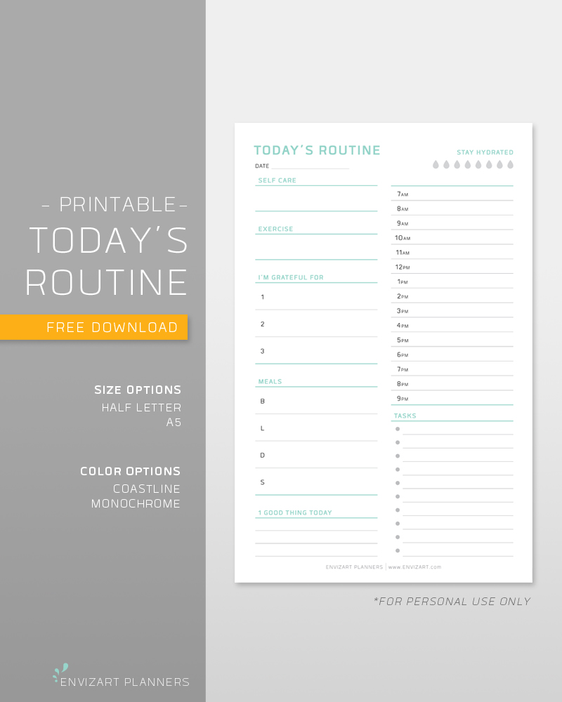 When you're overwhelmed, setting a routine or schedule with a focus on wellness and gratitude can help you get your day on track. Free printable included.